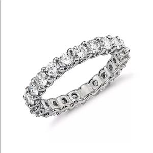 Jewelry - 18k White Filled Gold CZ Ring